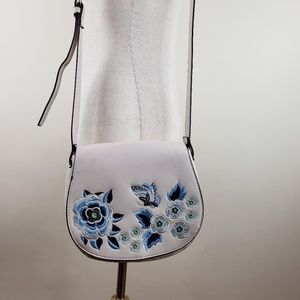French Connection Butterfly Embroidered Handbag
